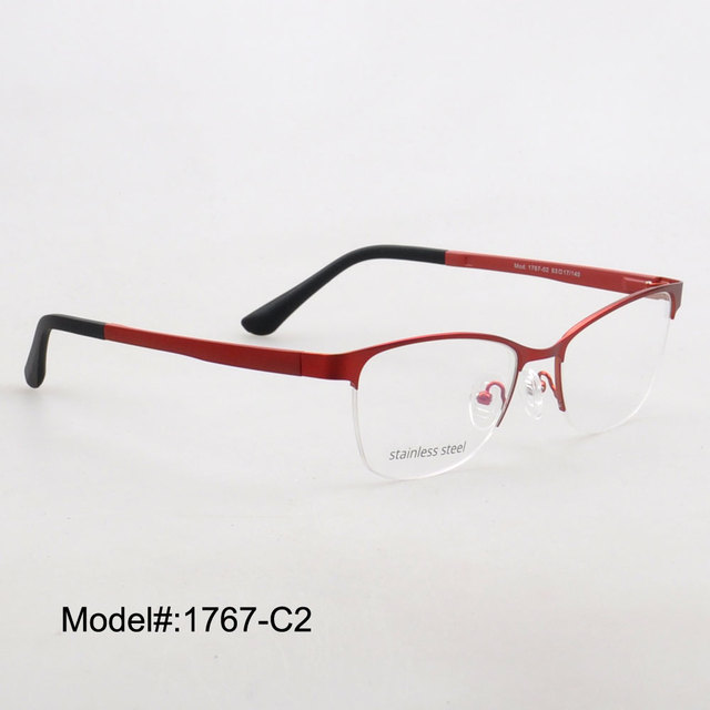 753a4d3f33 New Half Rim Mens Eyeglasses Stainless Steel glasses prescription