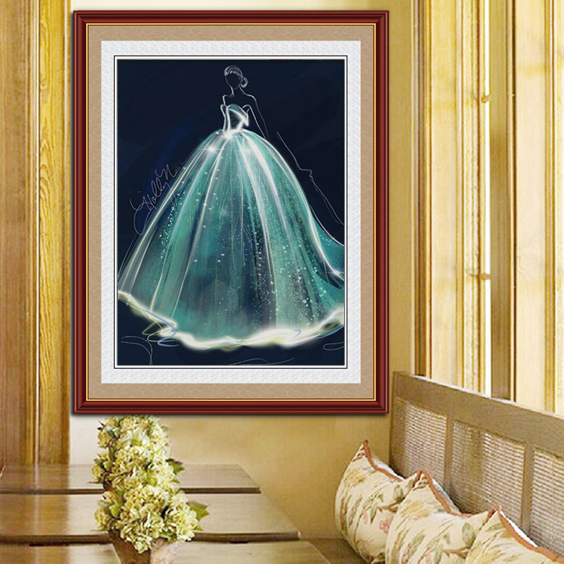 diamond embroidery sale DIY diamond painting full diamond wedding beauty dream bride bedroom diamond cross stitch in Diamond Painting Cross Stitch from Home Garden