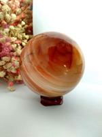 Great! Red Carnelian Geode Crystal Quartz Agate Polished Specimen Sphere Ball Healing Natural stones and minerals
