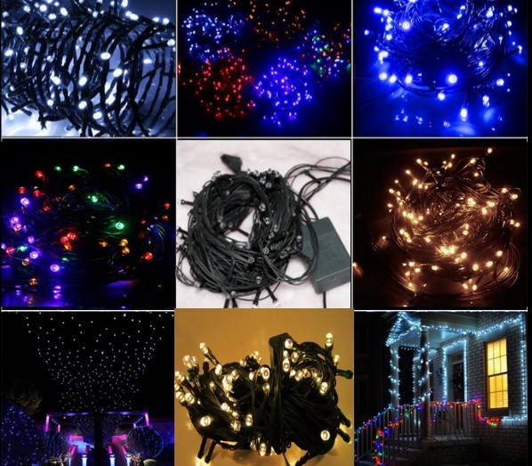 10 meters black green cord led lights flasher lamp outdoor waterproof string of lights christmas decoration lights in led string from lights lighting on