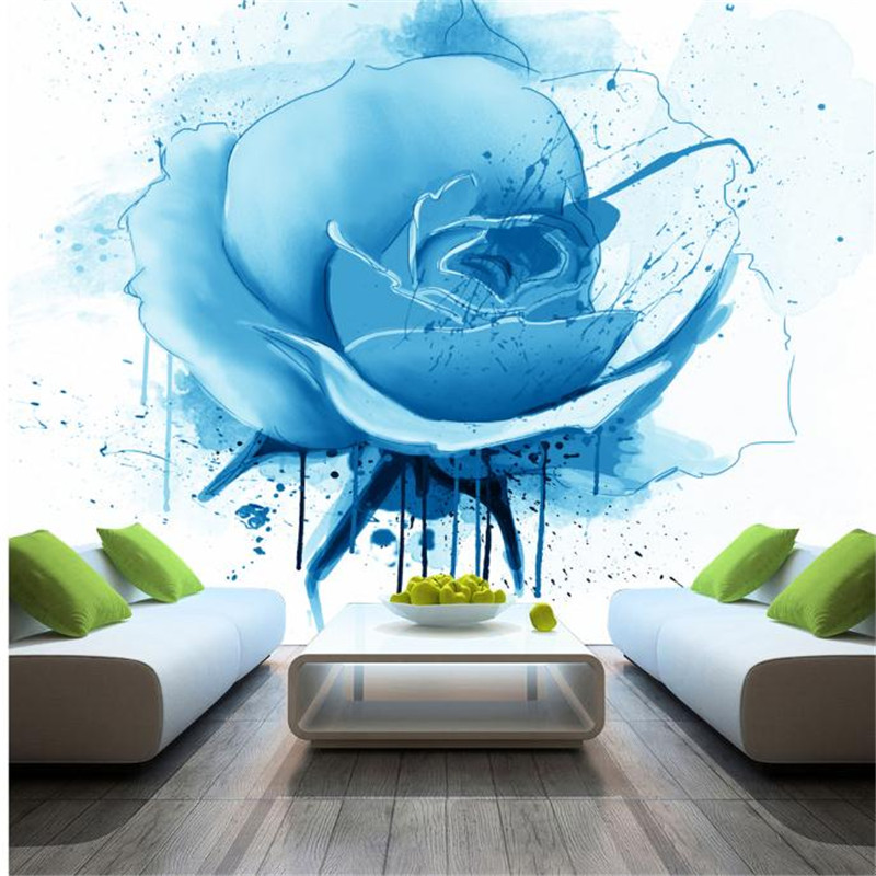 custom wallpaper for walls 3 d effect flower murals simple hand painted desktops wall mural blue flower wallpapers living room custom 3d ceiling wallpaper white polygon brick wall wallpaper for walls 3 d ceiling murals wallpapers for living room