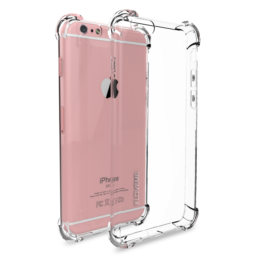 best service d1688 0aaff US $1.99 40% OFF|FLOVEME For iPhone X 2017 New Luxury Case , Transparent  Clear Cover For iPhone 8 iPhone 6 6S Plus 7 Plus Case Anti knock Fundas-in  ...