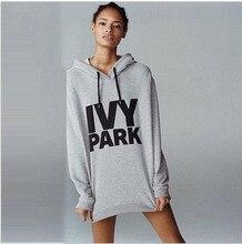 2017 Tracksuit Ladies IVY PARK  Grey Streetwear Sweatshirts Hoodies Pullover Long Sleeve BTS Sexy Long Sleeve Hooded Sportwear