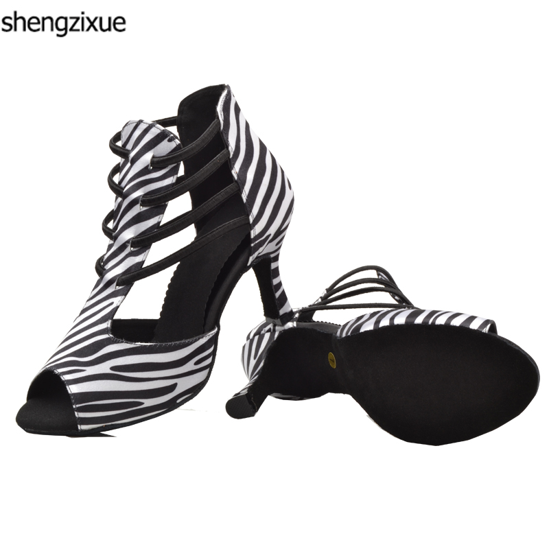 Calendars, Planners & Cards Shengzixue Zebra Texture Spring And Summer Boots Ladies Sandals Ballroom/latin Dance Shoes Heel Height 6/7/7.5/8/8.5/9cm