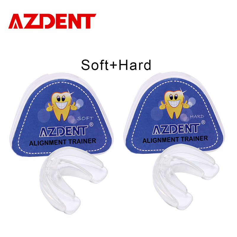 AZDENT Soft and Hard Tooth Orthodontic Appliance Aligners Trays Teeth Straightener High-tech Dental Transparent Teeth Retainer transparent dental orthodontic mallocclusion model with brackets archwire buccal tube tooth extraction for patient communication