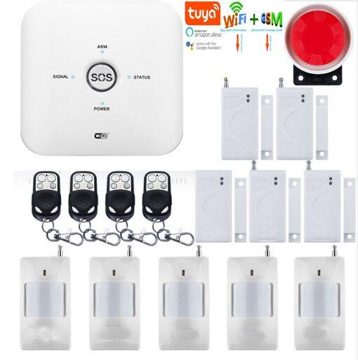 Yobang Security 10GDT Smart Wireless Wifi 2.4G Anti theft Alarm System 85db Siren GSM Ip Camera Tuya App Control Smoke Sensor|Alarm System Kits| |  - title=