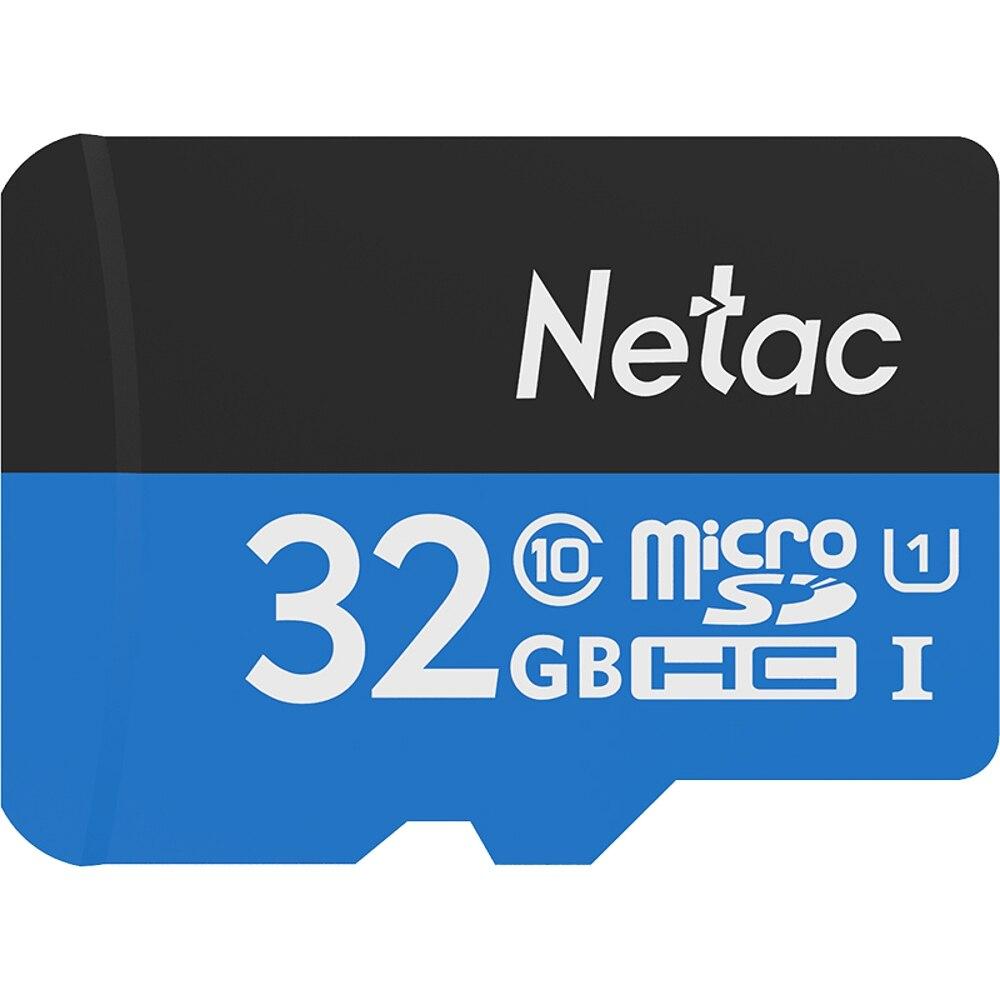 Netac P500 Classe 10 32 GB 32G 64 GB 128 GB Micro SDHC TF Flash Carte Mémoire De Stockage De Données UHS-1 jusqu'à 80/90 MB/s cartes mémoire