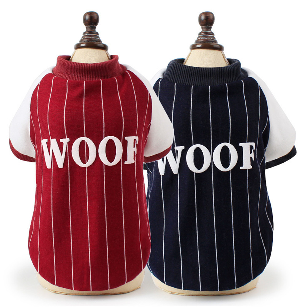 Small Dogs Costume Clothes Little Dogs Overalls Fashion Pet Clothes Sportive Style Outwear Puppy Small Dog Cool Baseball Uniform
