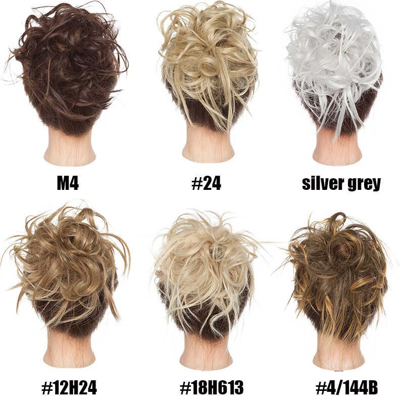 S-noilite 45 г синтетические волосы для наращивания женский шиньон с резиновой лентой пончик пряди волос валик для гульки конский хвост черный коричневый