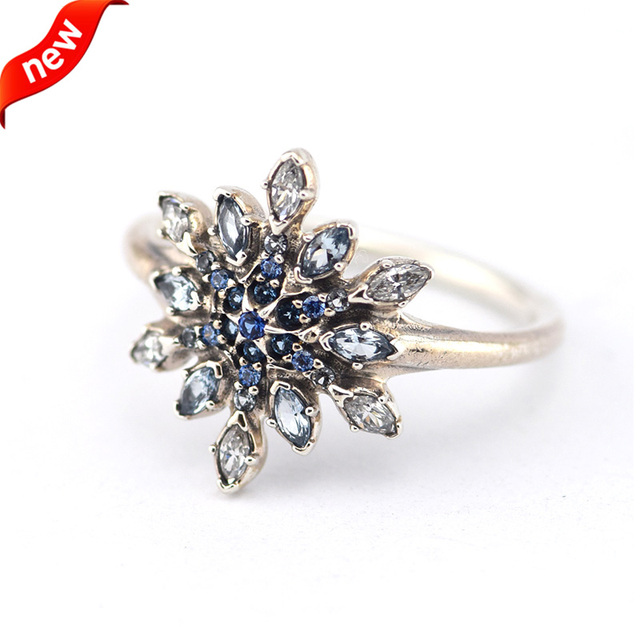 pandora crystallised snowflake ring