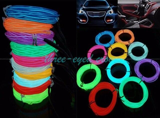 10 farbe Flexible 10 Mt El drahtseil schlauch Neon Licht + auto 12 V ...