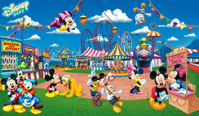 Bestyle Mickey Mouse And Donald Duck At Amusement Park 3d