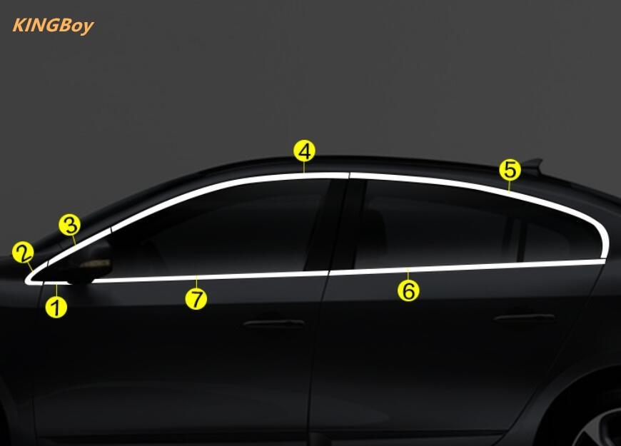 Hohe Qualität Edelstahl Auto Fenster Trim Streifen Für Renault Fluence 2011-2015 4dr Auto-styling