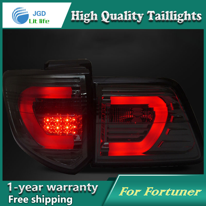 Car Styling Tail Lamp for Toyota Fortuner taillights Tail Lights LED Rear Lamp LED DRL+Brake+Park+Signal Stop Lamp car styling tail lamp for toyota corolla led tail light 2014 2016 new altis led rear lamp led drl brake park signal stop lamp