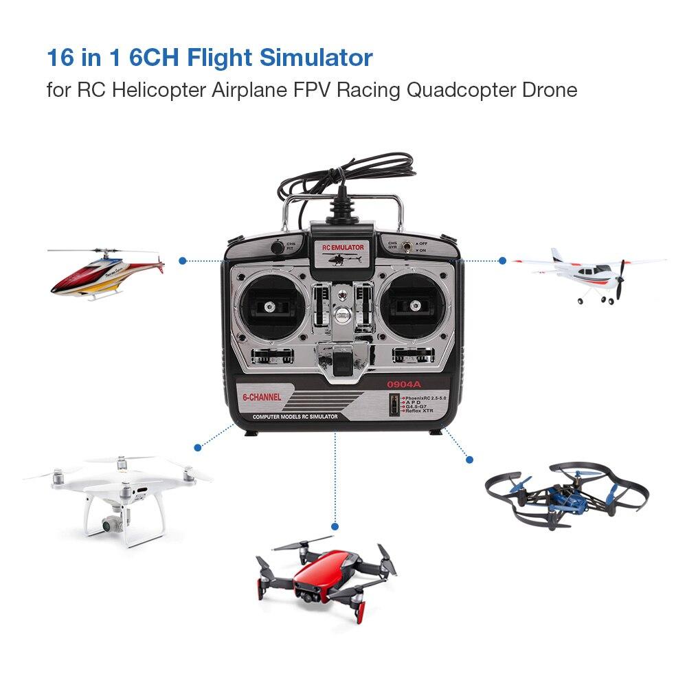 RC Drone 16 in 1 6CH USB Flight Simulator Emulator for RC