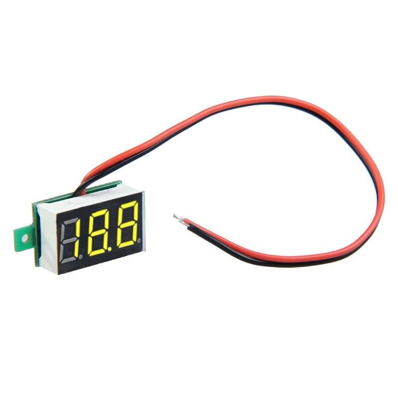 US $1 61 6% OFF LED Digital Volt Meter Gauge DC 2 5 30V Yellow LED 3  Digital Display Panel Voltage Meter Voltmeter volytmetr ammeters-in Voltage