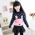 Kitty Sweaters Girls Wool Thick Girl Wool Sweater Children's Rabbits Sweater Girl's Sweater Clothes Kids Thick Tops