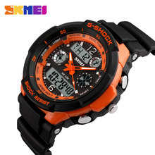 2016 SKMEI Marca de Lujo 0931 S Choque Militar Hombres Deportes Relojes correa de caucho LED Digital Relojes de pulsera de Cuarzo relogio masculino