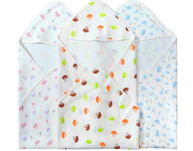 Mantas de Algodón Recién Nacido del bebé Pañales De Tela Estilo Fino Envuelto Baojin Adecuado En Otoño, Primavera, Verano