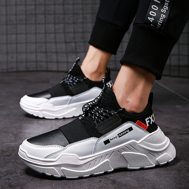 2019 Male Lace-up Men Sneakers High Quality Man Non Slip Comfortable Casual Shoes Mesh Sneakers Breathable Outdoor Walking Shoes 2