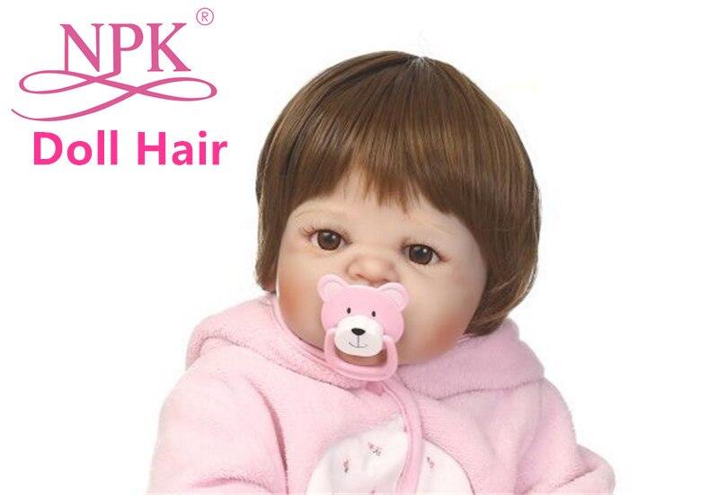 Npk Doll Baby Real Hair Wig Diy Full Silicone Reborn Boy