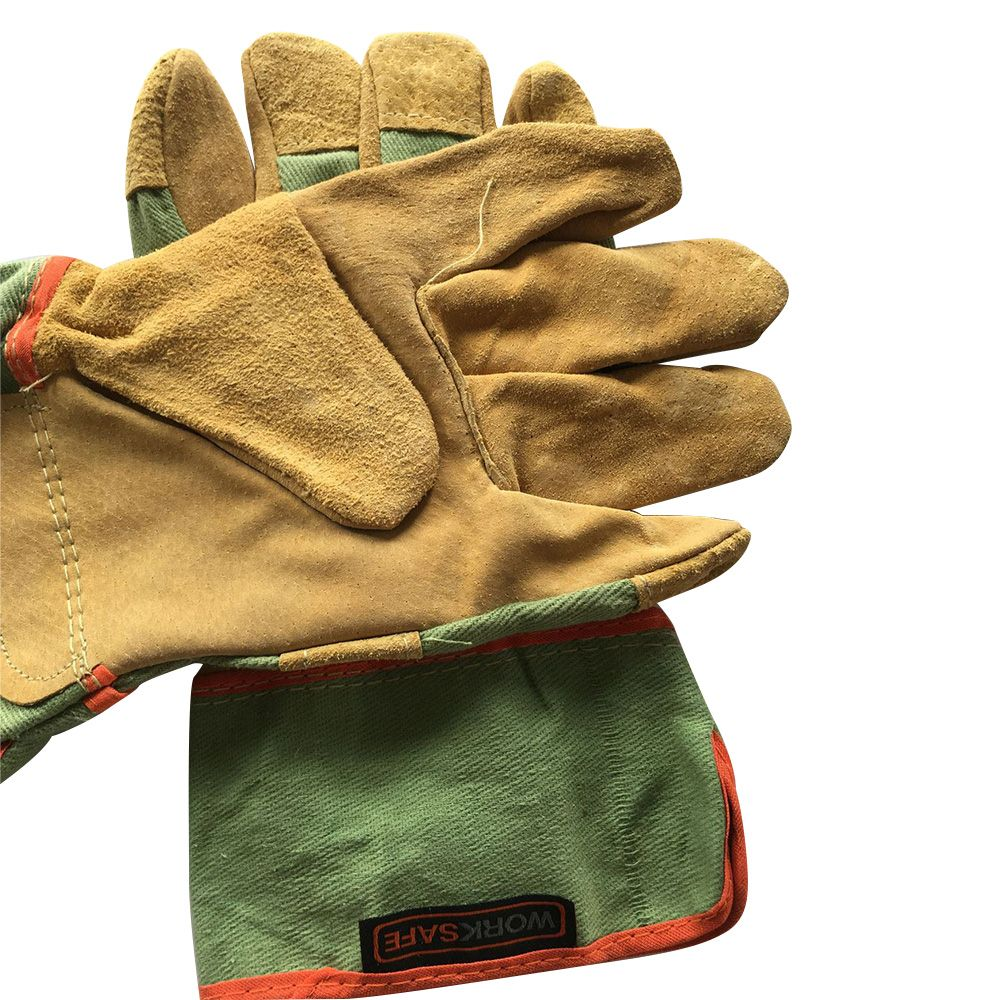 Welding Gloves Leather Full Palm Welding Long Gloves High Temperature Wear-resistant Fireproof Gloves Wear-resistant Leather