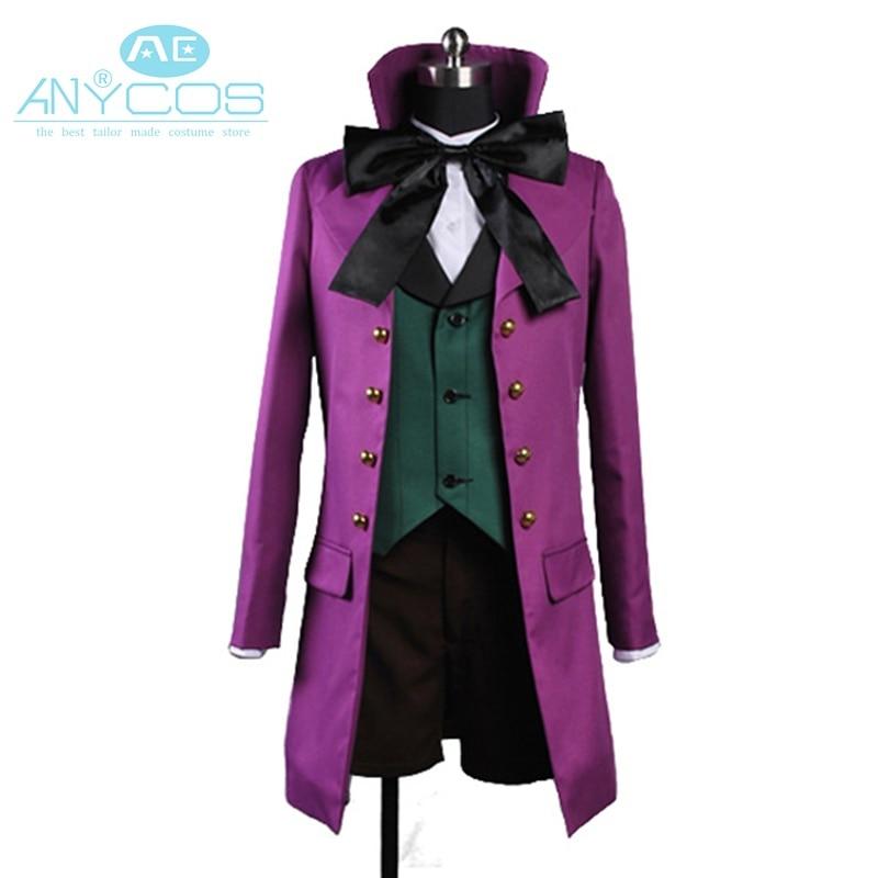 Black Butler 2 II Alois Trancy Uniform Purple Coat Jacket Pants Shirt For Men Anime Halloween Cosplay Costume Version B