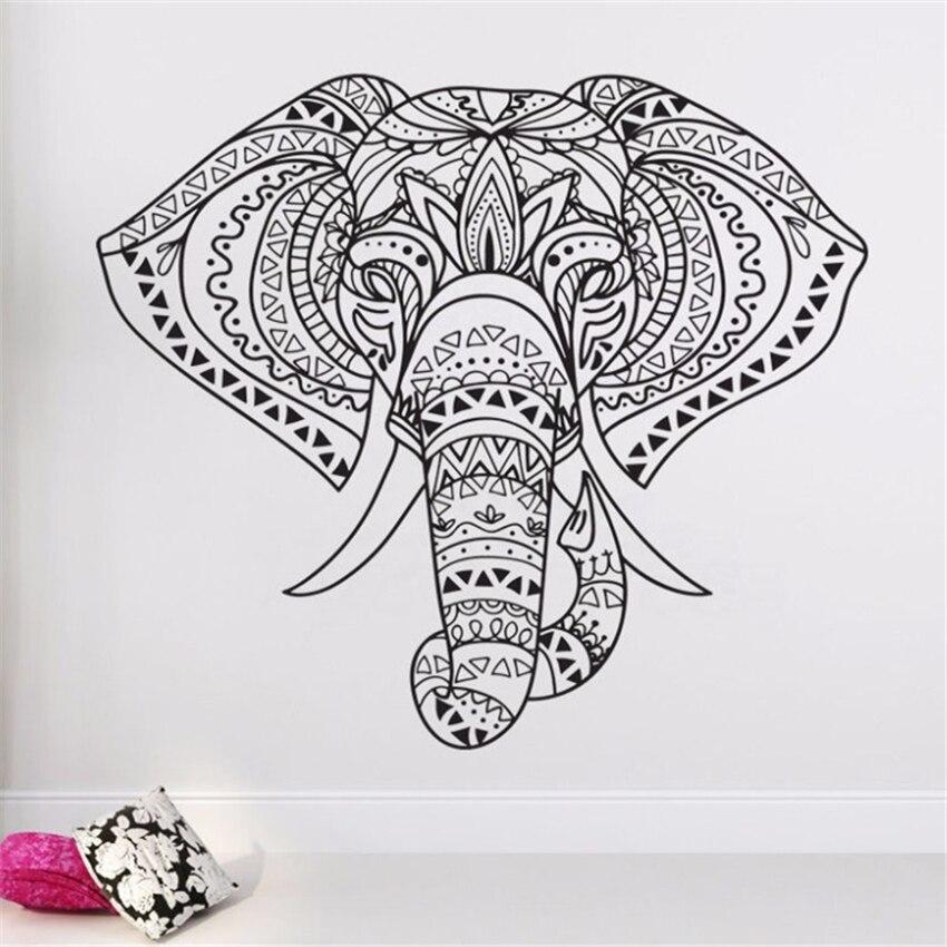 Indian Elephant Wall Art Vinyl Stickers