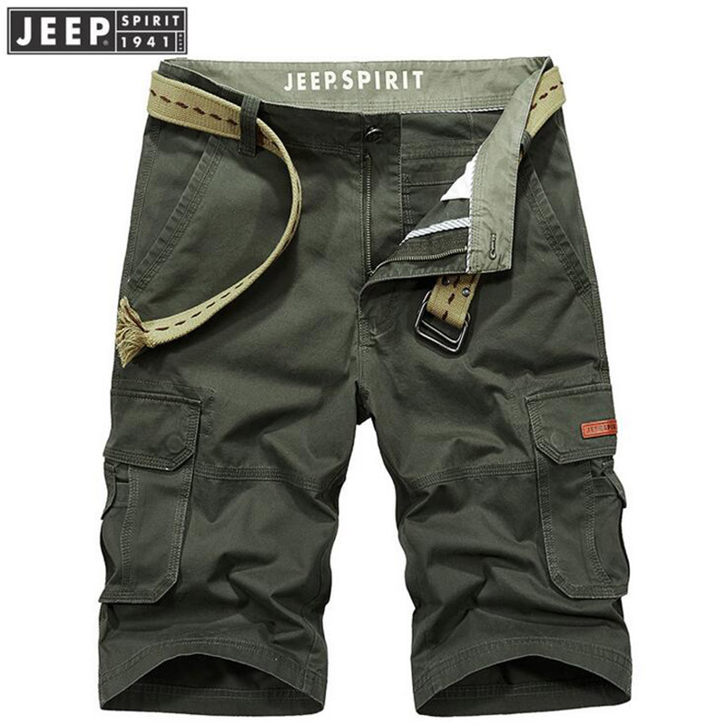 High Quality Mens 100% Cotton Short Fashion Summer Men Shorts Cotton Casual Mens Military Style Army Tactical Long Cargo Short