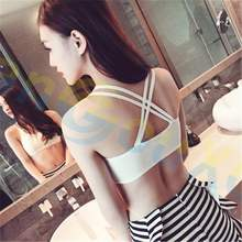 women sportwear X shape backless vest tanks tops T shirt Camisoles Bustiers Gym Jogging Clothes Sports Bras Yoga Outfits(China)