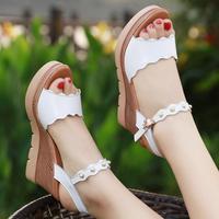 D&Henlu Women Platform Sandals Plus Size41 42 43 Womens Summer Sandals For Women Shoes White Wedding Shoes Wedges Heel Sandalias