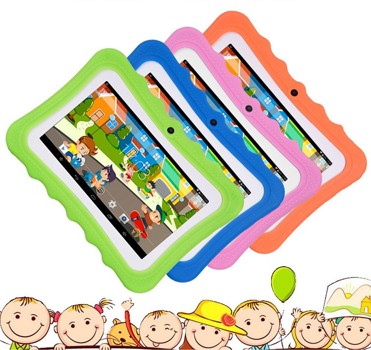 New Children s learning education machine Tablet best gift for Kids 7inch HD with Silicone Case