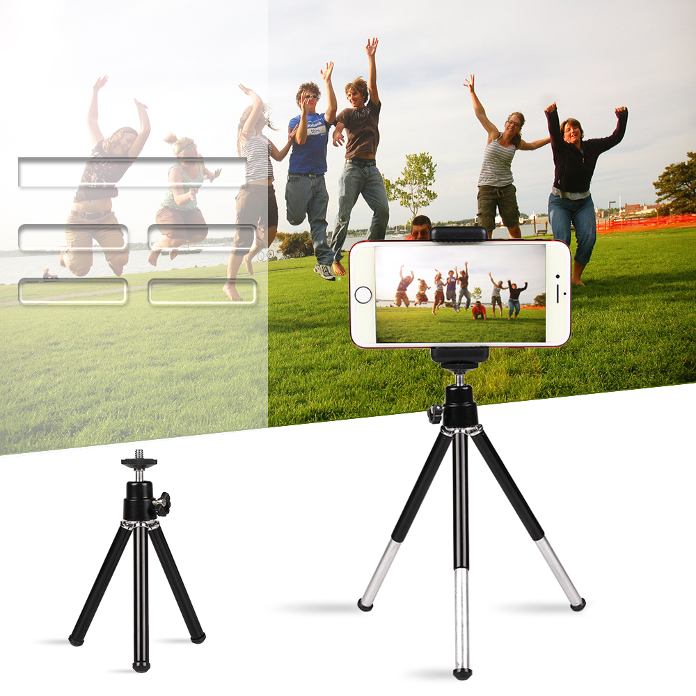Kaliou Black Aluminium Table Desk Mini Tripod Travel Stand Holder for Gopro 7 6 5 4 3 3 2 1 Mobile Phone iPhone Samsung Huawei 39 in Live Tripods from Consumer Electronics