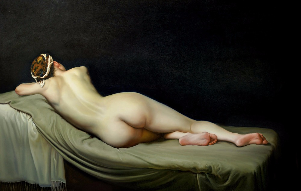 Black naked oil painting woman — img 2
