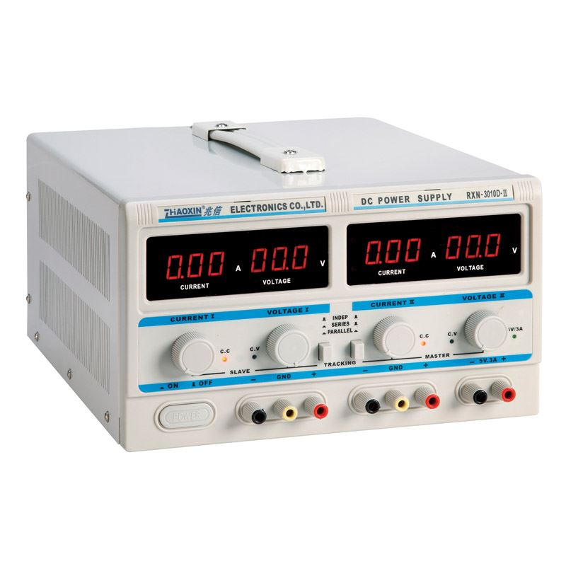 Dual output Adjustable DC Power Supply 30V10A with 5V3A fixed output series parallel dual output power RXN-3010D-II rxn 305d ii 0 30v 0 5a two circuit output cocurrent voltage stabilized source fixed output 5v 3a adjustable dc power supply