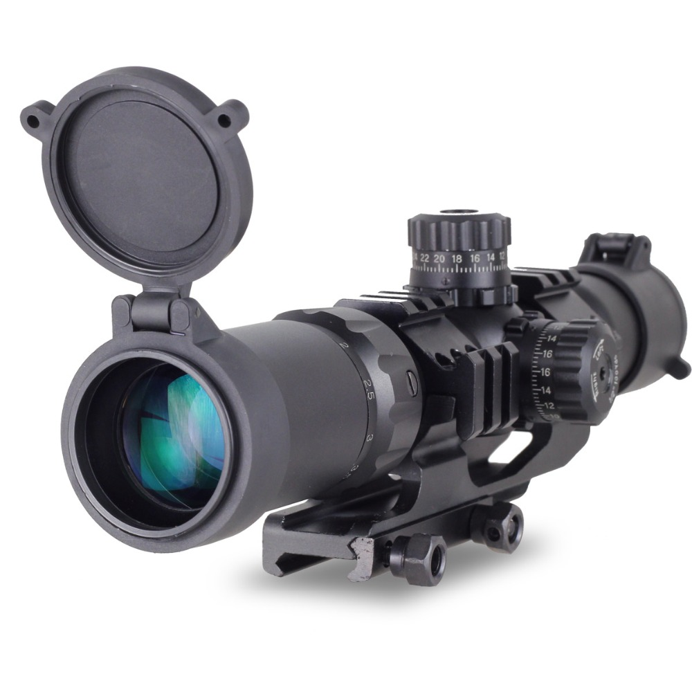 New Aim Sports Recon Series 1.5-4 X 30 Tactical Scope Shockproof Waterproof For 20 mm Ra ...