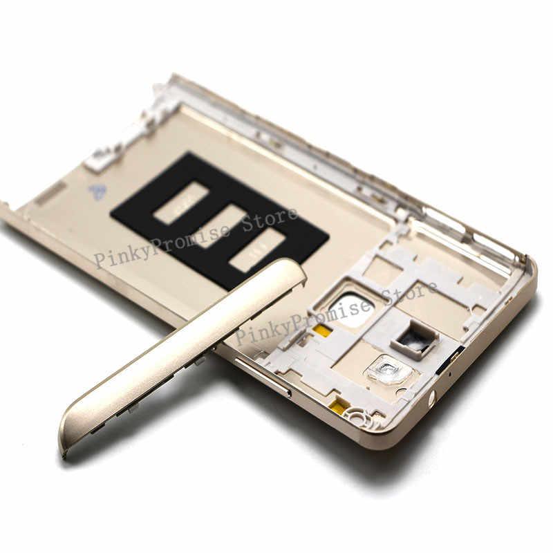 Preto de prata de ouro 100% Novo Porta Da Bateria Tampa Traseira Caso de Habitação Para Huawei Companheiro Mate7 7 Com Lente Da Câmera + botões de Volume De energia
