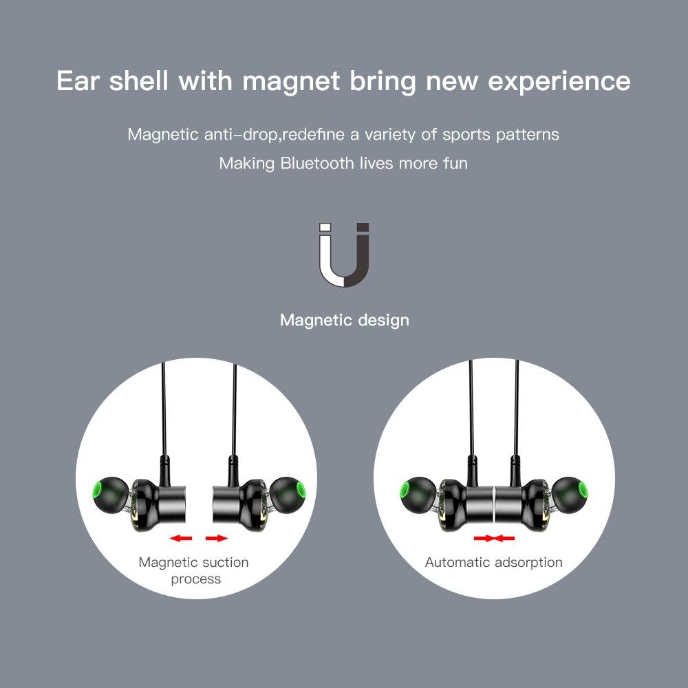 AWEI G20BL Bluetooth Earphone Wireless Headphone Neckband Headset Earpiece Dual Driver Earphone For Phone Casque Auriculares 3