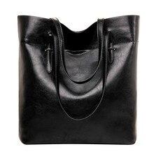 2016 neue frauen Handtaschen Hochwertigen Europäischen Und Amerikanischen Vintage Minimalistischen Kapazität Tote Bag Pu Leder Umhängetaschen