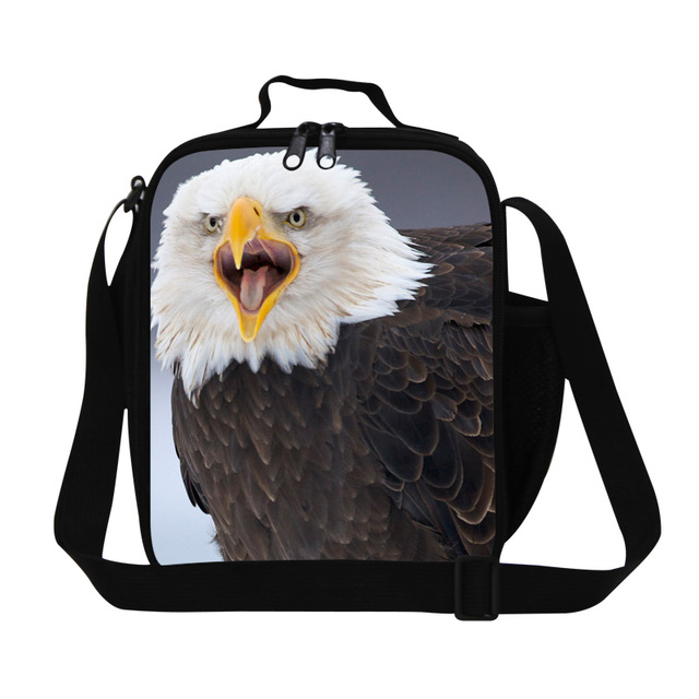 Dispalang Thermal Lunch Bags Bald Eagle Animal Print Lunch Box For Children Picnic Lancheira Termica Dog Students Kids Food Bags