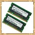 Ноутбук памяти для микрон DDR 2 ГБ 2 x 1 ГБ 333 мГц PC2700 SODIMM 333 ноутбук оперативной памяти 1 г 200pin
