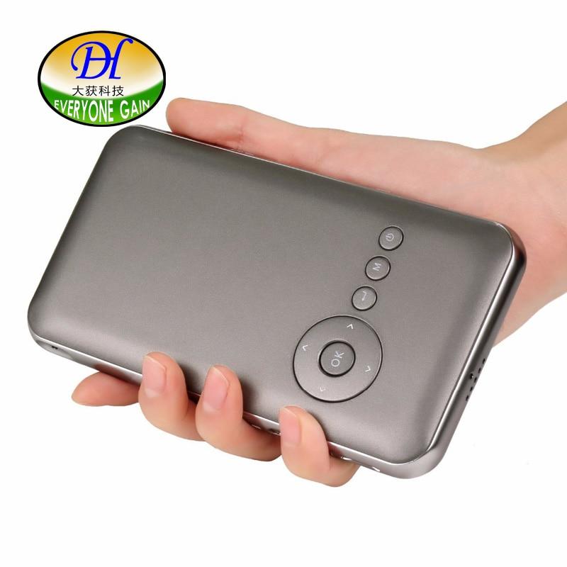 Todos Ganan A116 + Android4.4 Doble Banda WiFi DLP Proyector Soporte Remoto Inal