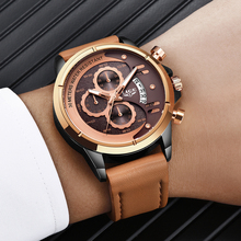 LIGE Business Big Dial Watch Men Sport Quartz Clock Mens Watches Top Brand Luxury Waterproof Leather Watches Relogio Masculino big dial watches men hour mens watches top brand luxury quartz watch man leather sport wrist watch clock alloy strap
