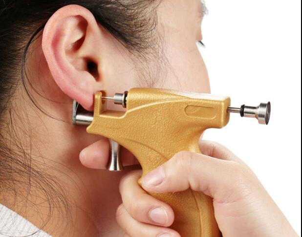 FREE SHIPPING Ear Piercing Pistol Ear Gun ear hole tool stainless steel earring gun punk style earring stainless steel screw ear stud