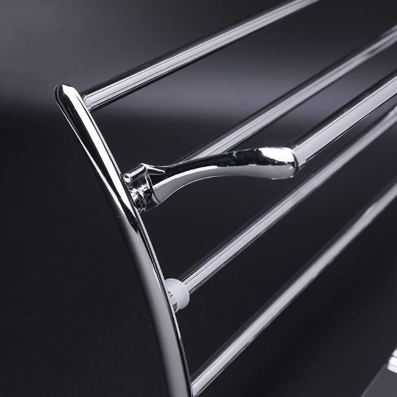 Stainless Steel Wall Mounted Towel Rack Bathroom Rail Holder Storage Shelf NEW