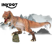 12.5'' Jurassic World Emperor Tyrannosaurus Rex Lower Mandible Movable Realistic Dinosaur Action Figure Model Toys