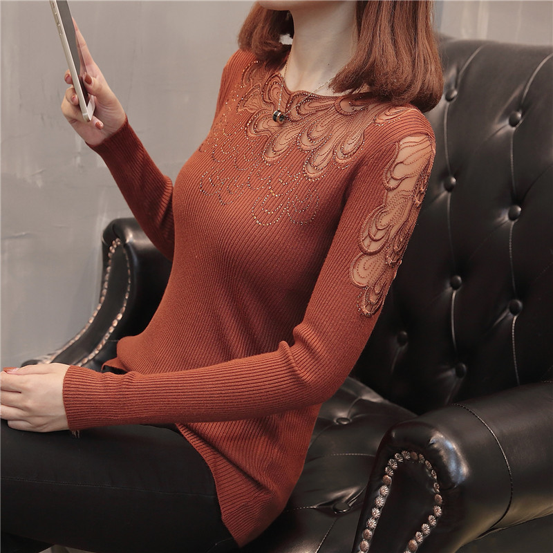 Lcybhe autumn new product Bud silk knit elastic render women's clothing of cultivate morality 43