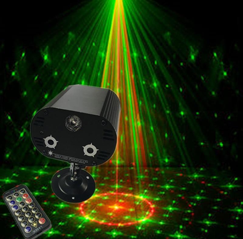 10 PCS/lots Mini Portable LED musique activée par la voix Laser scène lumières DJ KTY maison fête mariage Club projecteur 110-240 V