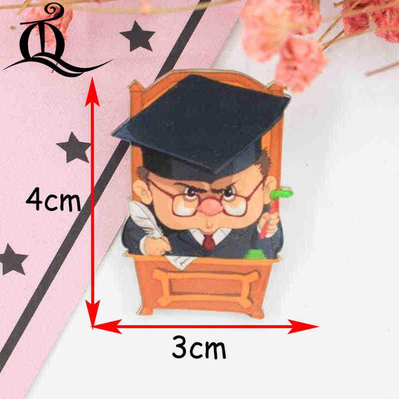 1 PC MIX adorável Robô Dos Desenhos Animados Kawaii Acrílico Emblemas Emblema Emblemas de Ícones na Mochila para a Roupa Bolsa Pin Broche z20