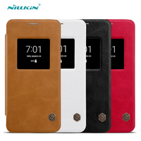 For LG G6 Flip Leather Case Nillkin Qin Series Luxury View Window Flip Leather Cases For